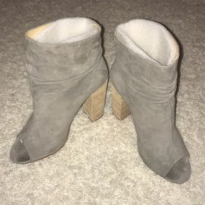 Chinese Laundry Grey Peep Toe Bootie sz 10
